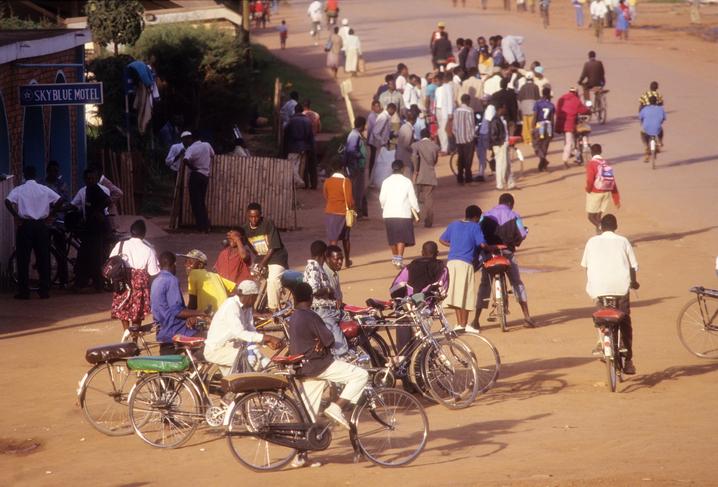 Street scene at Kabale town, Uganda
