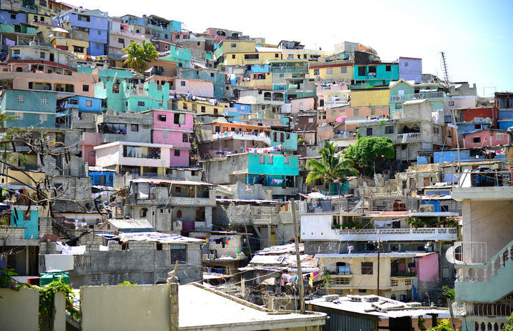 Housing stacked Port-Au-Prince, Haiti.